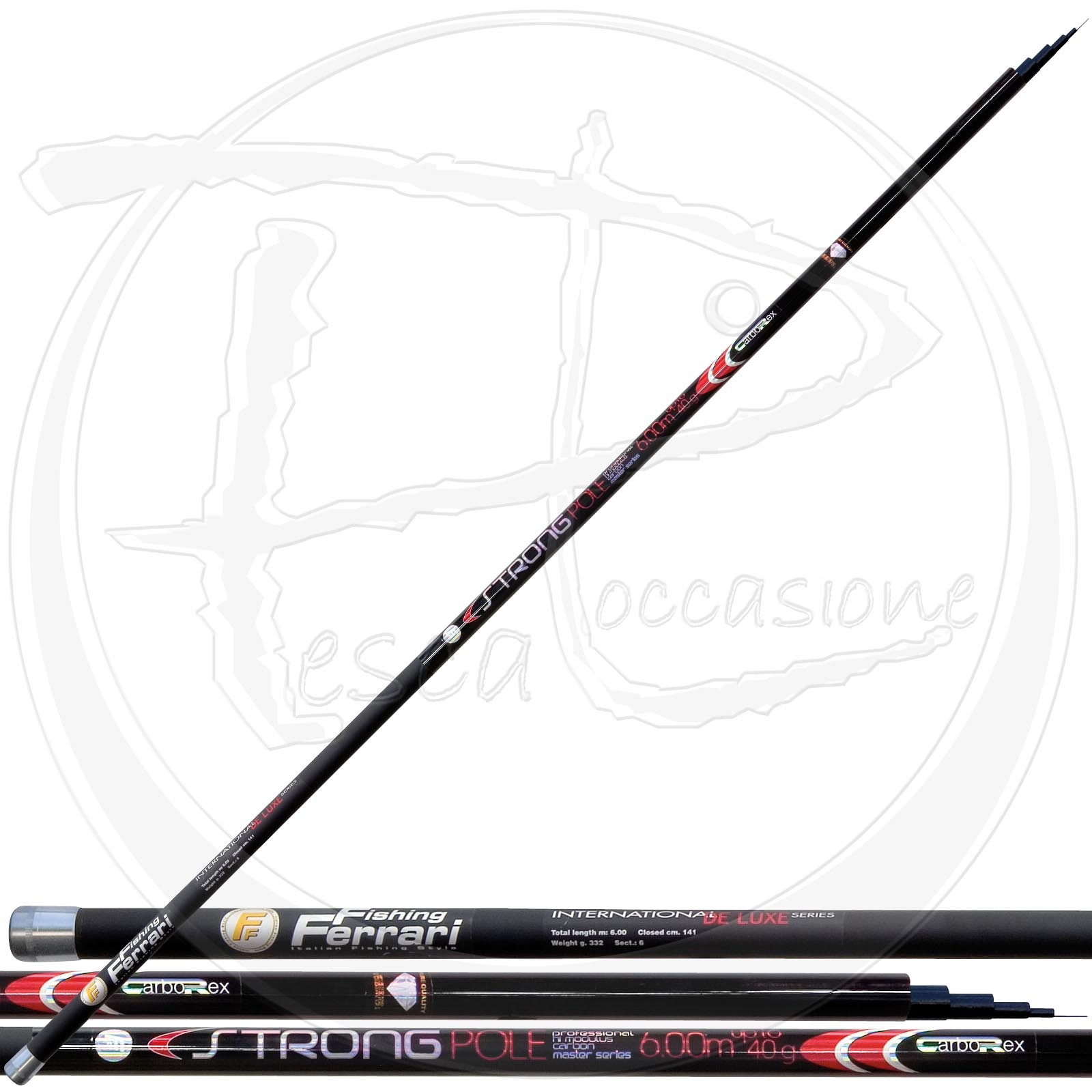 Carborex strong pole pescaloccasione for Strongest fishing rod